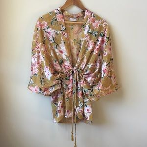 Free People only in dreams burnout floral kimono